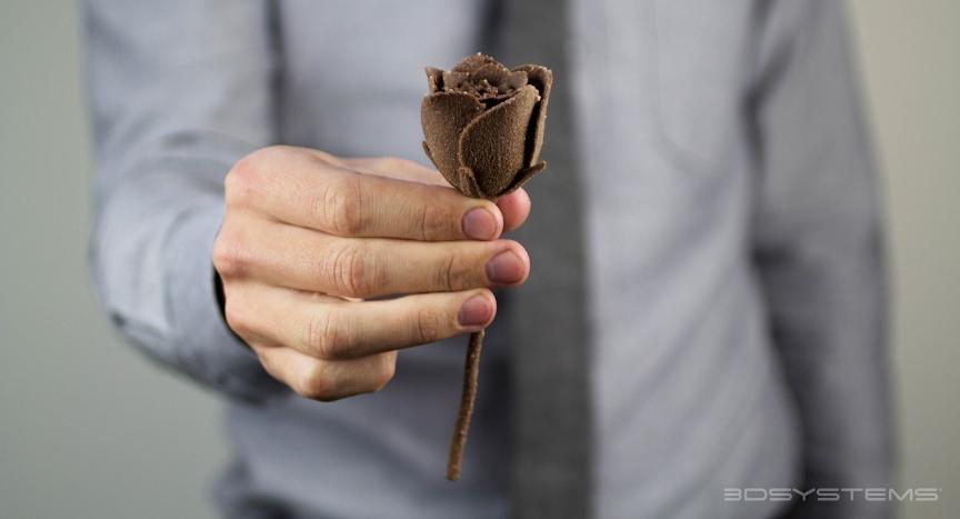Шоколадная роза